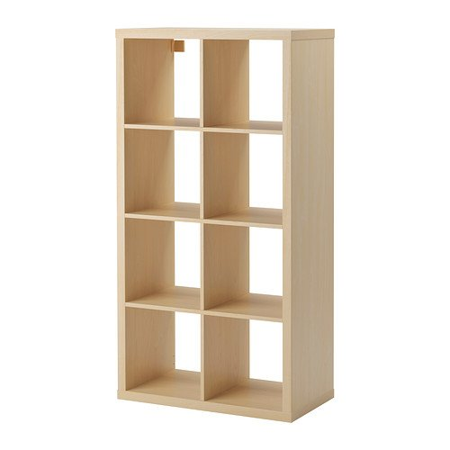 Birch Bookcase (Ikea Kallax Bookcase Shelving Unit Display Birch Effect Brown Modern Shelf)
