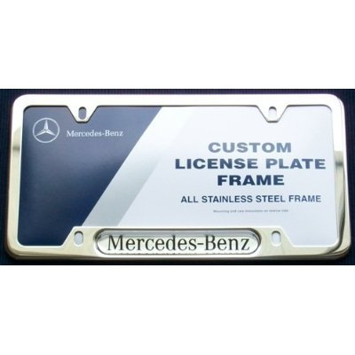 Mercedes-Benz Logo Frame Polished Stainless ()