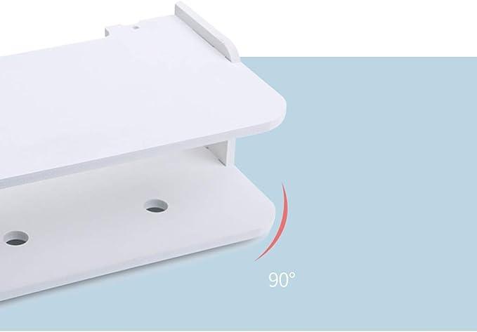 Qwed WiFi Router Estante TV Set-Top Rack Colgante de Pared Caja de Almacenamiento sin formaldeh/ído Cara Sonriente Grande