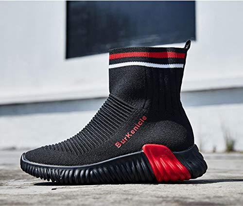 Calcetines Viaje gules Cortas Casuales Correr Zapatos de Zapatos Altas Lucdespo Botas elásticos Zapatos Botas para Señoras Zapatos XXS7wA