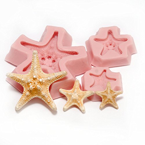 nobby-star-fish-silicone-mold-set-food-safe-fondant-chocolate-candy-resin-polymer-clay