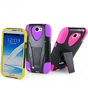 PC Silicone Dual Color Holder Case For Samsung Galaxy Note 2 N7100