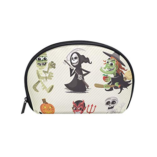 (LORVIES Hallowen Characters Cosmetic Pouch Clutch Makeup Bag Travel Organizer Case Toiletry Pouch for)