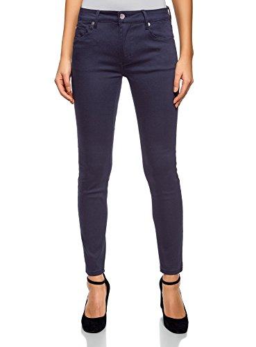 oodji Ultra Femme Jean Skinny Basique Bleu (7900n)