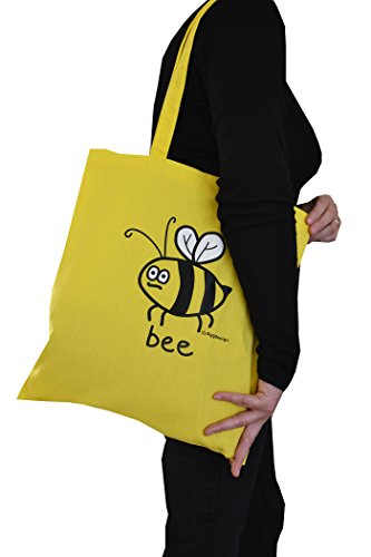 Paquet de 3 sacs de shopping, escargot, abeille et coccinelle.