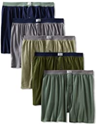 Fruit of the Loom Men's 5-Pack Soft Stretch Knit Boxer -...