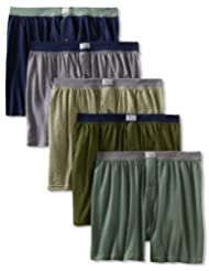 Fruit of the Loom Men's 5-Pack Soft Stretch Knit Boxer - Colors May Vary