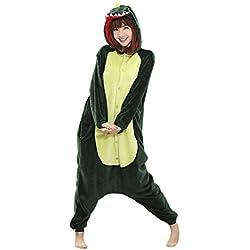 Babyonlinedress Pijama de adulto de una pieza con diseño de animal sudadera de disfraz de cartoon holgado y cómodo con capucha