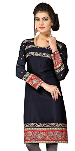 Indian Tunic Top Womens Kurti Printed Blouse India Clothing – Small, L 137