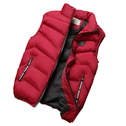 Fashion Warm Menthickening Sleeveless Red R Hat Cotton Vest Hooded Waistcoat Down Mensto 5qzcRAT