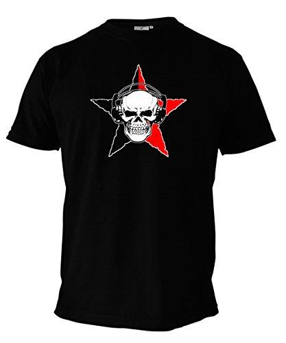 T-Shirt - ANARCHO SKULL - Anarchy, Punk, Totenkopf, Stern - schwarz