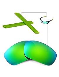 Walleva Replacement Lenses Or Lenses/Earsocks for Oakley Racing Jacket Sunglasses -Multiple Options