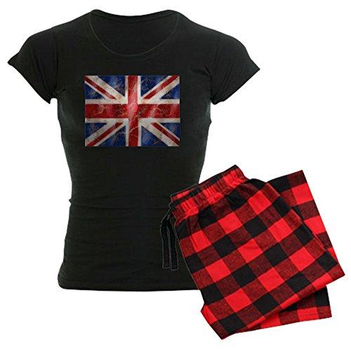 CafePress 475 Union Jack Flag Womens Novelty Cotton Pajama Set, Comfortable PJ Sleepwear (Pajamas British)