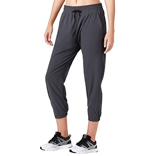 Naviskin Women's UPF 50+ Sun Protection Outdoor Capri Pants Lightweight Workout Running Jogger Yoga Capri Pants Grey Size M ()