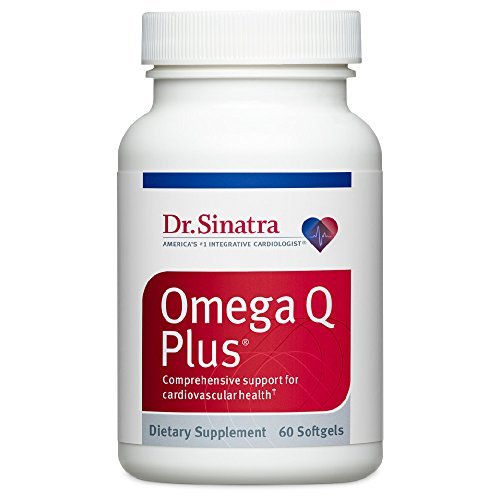Dr. Sinatra's Omega Q Plus - Omega-3 Supplement with CoQ10 - Comprehensive Support for Cardiovascular Health (60 softgels)