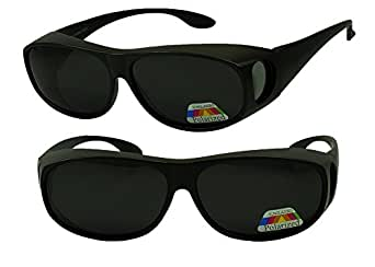 Amazon.com: Sunglass Stop - 2 Pack of Wrap Around Wear Fit