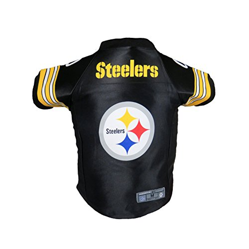 Jersey Dog Pittsburgh - Littlearth NFL Pittsburgh Steelers Premium Pet Jersey, Small