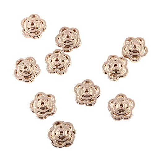 - MOPOLIS 10pcs Metal Butterfly Round Snap Fastener Buttons Sewing For Dress Clothing Bags | Model - Flower