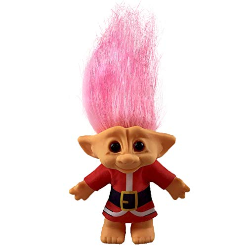 """Yintlilocn Lucky Troll Dolls,Vintage Troll Dolls,Christmas Dolls Chromatic Adorable for Collections, School Project, Arts and Crafts, Party Favors- 7.5"""" Tall(Include The Length of Hair (Pink)"""