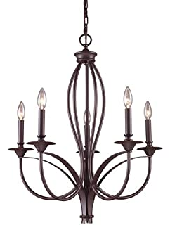 elk medford 5light chandelier