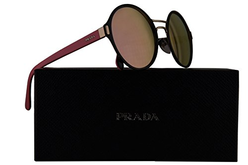 Prada PR57TS Sunglasses Black Pale Gold w/Orange Mirror Rose Gold 54mm Lens AAV5L2 SPR57T PR 57TS SPR 57T by Prada