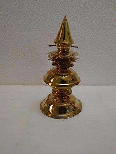 Kumbakonam Traditional Products By Sps Marketing Brass Temple Gopur Kalash Yellow Gold Height 16 And Base Is 9 Cm