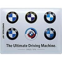 Nostalgic-Art Metalen Retro Bord, BMW – Logo Evolution – Geschenkidee voor liefhebbers van autoaccessoires, van metaal…