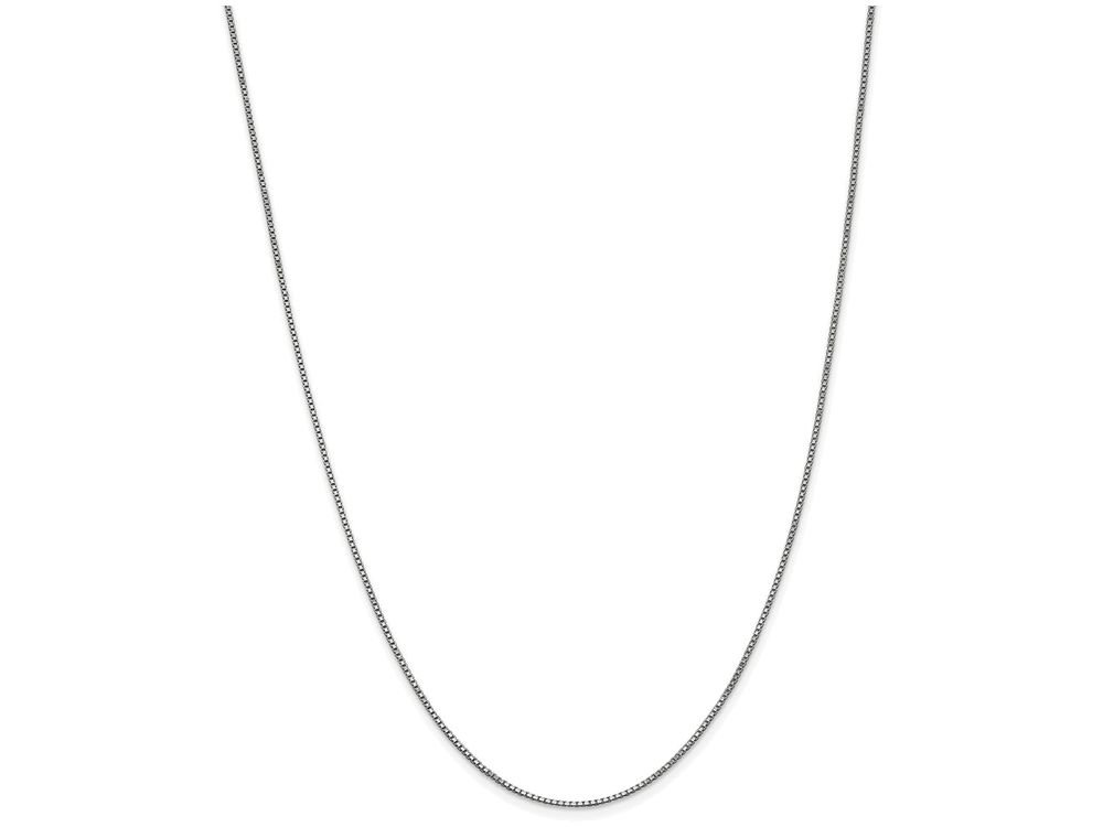 Finejewelers 14 Inch 14k White Gold 1mm Box Chain Necklace