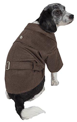 (PET LIFE 'Galore' Back-Buckled Fashion Designer Pet Dog Coat Jacket, Medium)