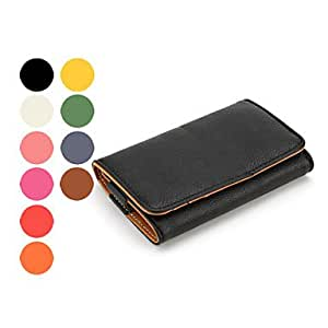YXF Candies - PU Leather Case for iPhone 4, 4S (Assorted Color) , Black