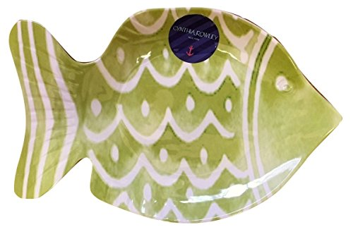 Green Fish Platter - Cynthia Rowley Small Green Fish Serving Dish