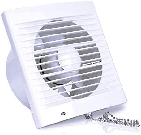 SAILFLO Extractor de Baño Ventiladores de Baño 100mm con Parabrisas Interruptor de Cadena Pared Gran Flujo de Aire para Ventana Cocina Garaje Tienda Inodoro 4