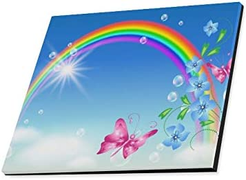 BEAUTIFUL RAINBOW BUTTERFLY COLOURFUL CANVAS PRINT WALL ART PICTURE PHOTO