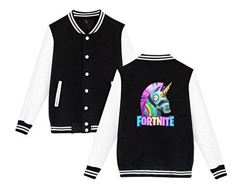 Black5 Fortnite Uomini Giacca Sweatshirts Per Leggera Da Aivosen Donne Comode Baseball Allentato Stampate Moda Casual Unisex E AqwOx5Ua
