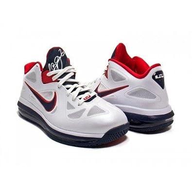 Nike LeBron 9 Low WBF Wolf Grey White Dynamic Blue Fireberry 510811-002 (1 0ea08c9fe6