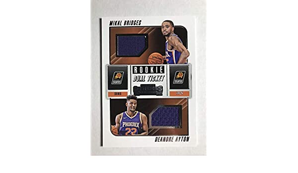 097c13279 Amazon.com  2018-19 Panini Contenders Rookie Ticket Dual Swatches Basketball  Deandre Ayton Mikal Bridges Jersey Relic Phoenix Suns Official NBA Card  From ...