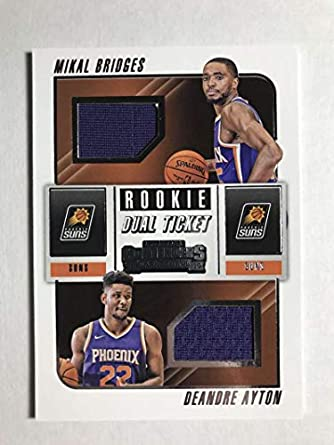 newest 72a58 60760 Amazon.com: 2018-19 Panini Contenders Rookie Ticket Dual ...