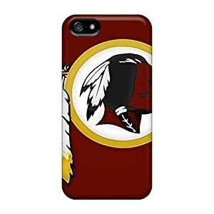 Scratch Resistant Cell-phone Hard Cover For Iphone 5/5s (Qqd16207KpWX) Support Personal Customs Lifelike Washington Redskins Image