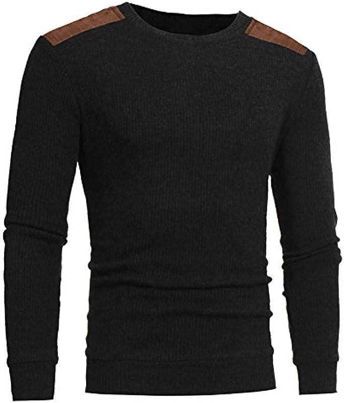 FRAUIT sweter z dzianiny moda męska Slim Fit czas wolny okrągły dekolt patchwork męski sweter z dzianiny K-114 Streetwear Menswear Autumn/Winter Knit Knitwear sweter męski sweter z dzianiny: Odzie&