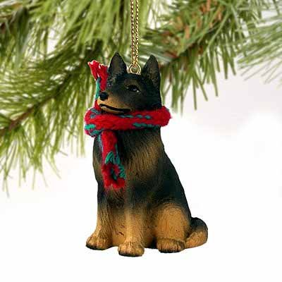 Belgian Tervuren Tiny Miniature One Christmas Ornament - DELIGHTFUL!