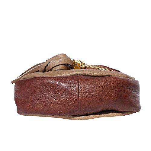 Florence Market Mujer Tortora Piel De Bolso Hombro Small Para Al marrone Leather Scuro rRqp5xwfr