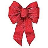 RED SHIMMER BOW 7 LOOP (Pkg of 10)