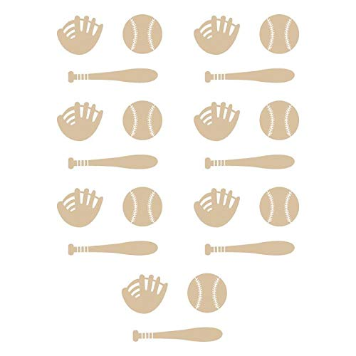 piacai Wall Stickers Decal Removable Baseball Bat Glove for Boys Room ()