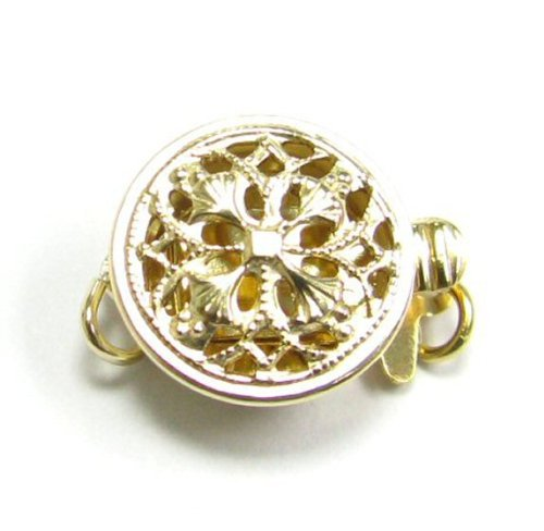Dreambell 14k Gold Filled Classic 1 Strand Round Flower Filigree 9mm Pearl Box Clasp - Clasp Gold 14k Filigree