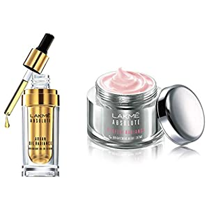 Lakmé Absolute Perfect Radiance Skin lightening/Brightening Night Creme 50 g And Lakmé Absolute Argan Oil Radiance…