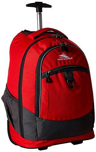 - High Sierra Chaser Wheeled Laptop Backpack, Crimson/Mercury