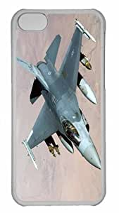 Customized iphone 5C PC Transparent Case - War Airplane 65 Personalized Cover