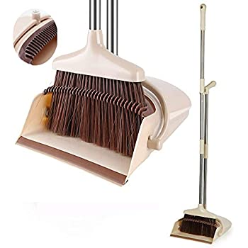 Amazon Com Broom And Dustpan Set Upright Self Cleaning