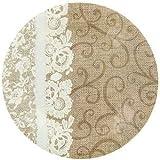 Burlap & Lace Paper Plates (Lunch Size Plates)
