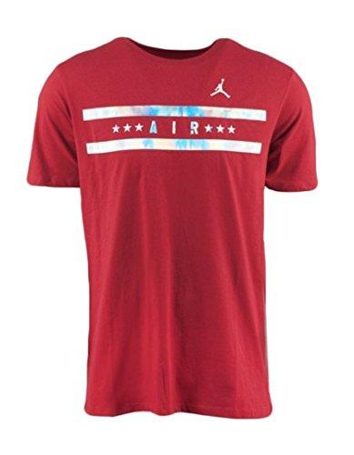 6eb73d58f72b71 Nike Air Jordan Men s Forever Basketball T Shirt Red Silver 706854-687  (X-Large) - Buy Online in UAE.